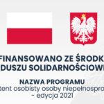 Logo Dofinansowano ze środków Funduszu Solidarnościowego